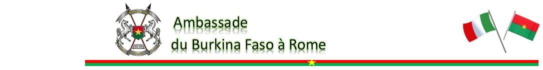 Ambassade du Burkina Faso à Rome en Italie - Ambasciata a Roma